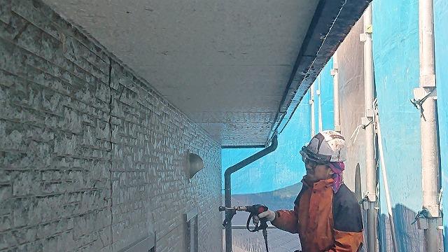 飯田市駄科トタン屋根外壁洗浄5