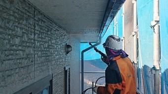 飯田市駄科トタン屋根外壁洗浄6