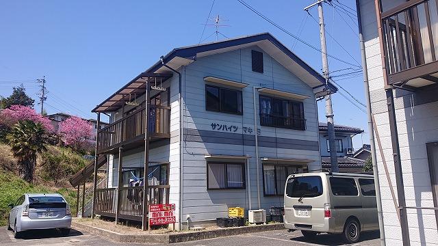 飯田市駄科 アパート足場2