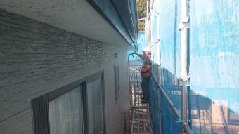 飯田市駄科トタン屋根外壁洗浄7