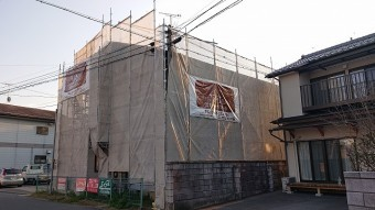 飯田市駄科 アパート足場8