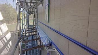 飯田市鼎パナ外壁塗装中塗り2