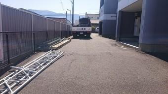 塩尻市アパート外壁足場5