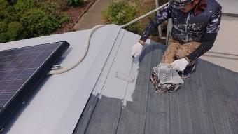 飯田市大瀬木倉庫屋根遮熱中塗り2
