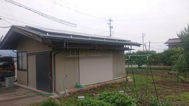 飯田市大瀬木倉庫屋根遮熱現状1