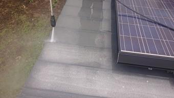 飯田市大瀬木倉庫屋根遮熱洗浄4