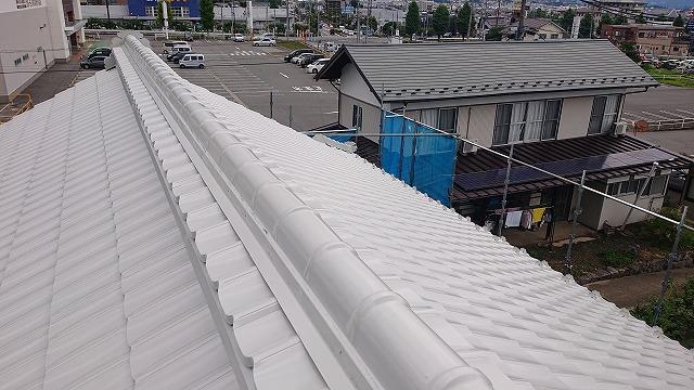 飯田市大瀬木金属瓦中塗り8