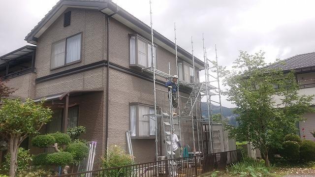 飯田市大瀬木外壁塗装足場3
