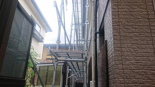 飯田市大瀬木外壁塗装足場4