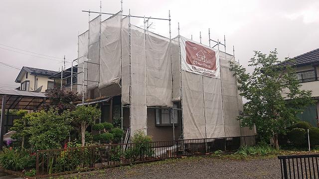 飯田市大瀬木外壁塗装足場7