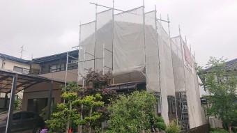 飯田市大瀬木外壁塗装足場8