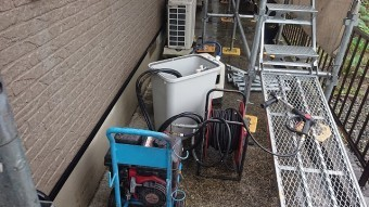 飯田市大瀬木外壁洗浄1