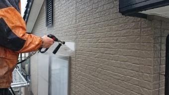飯田市大瀬木外壁洗浄3