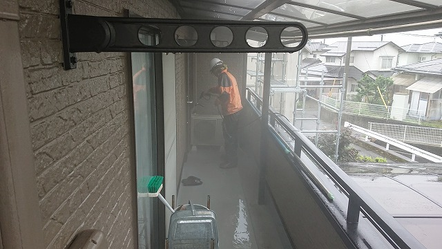 飯田市大瀬木外壁洗浄5