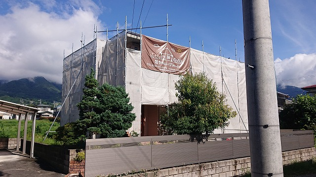 飯田市上殿岡外壁足場4