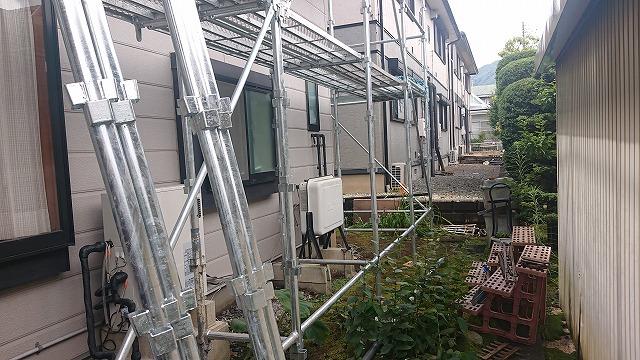 飯田市上殿岡 屋根外壁木部塗装足場4