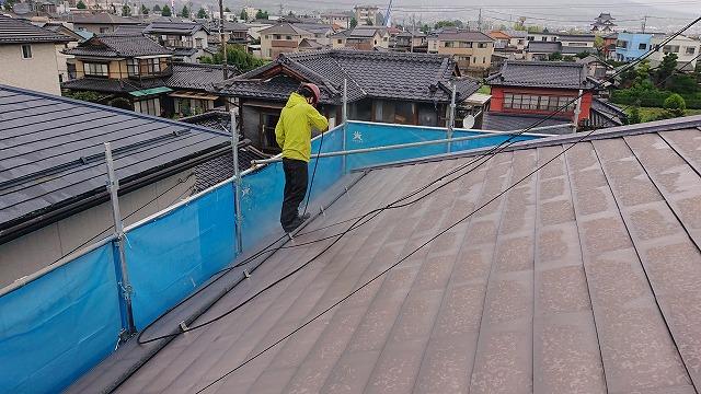 飯田市上殿岡 屋根外壁木部塗装洗浄3