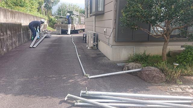 飯田市北方屋根外壁塗装 足場3