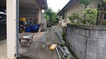 飯田市北方屋根外壁塗装 足場4