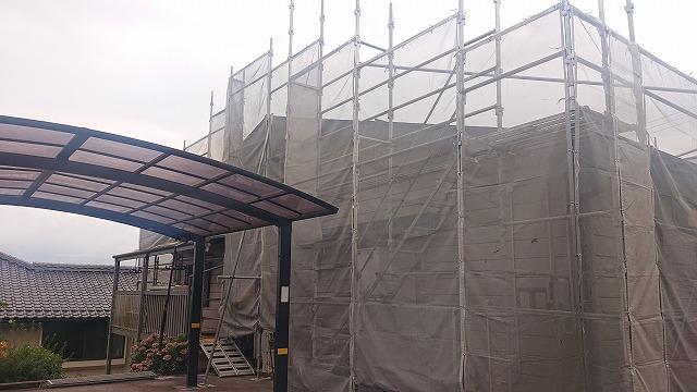 飯田市北方屋根外壁塗装 足場10