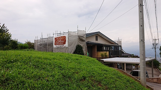 飯田市北方屋根外壁塗装 足場12