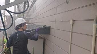 飯田市北方屋根外壁塗装 洗浄3