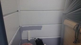 飯田市北方屋根外壁塗装 下塗り1