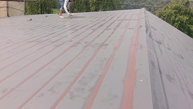 飯田市北方屋根外壁塗装 屋根中塗り3