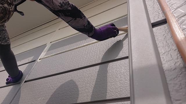 飯田市北方屋根外壁塗装 下塗り2