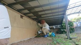 飯田市北方屋根外壁塗装 下塗り3