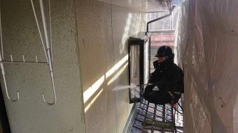 飯田市北方モルタル外壁洗浄3