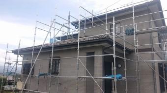 飯田市北方外壁塗装 足場2