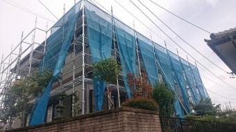 飯田市北方外壁塗装 足場3
