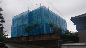飯田市北方外壁塗装 足場4