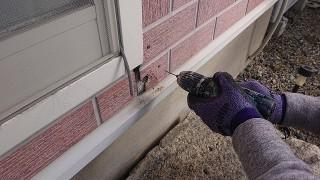飯田市北方外壁塗装補修作業1