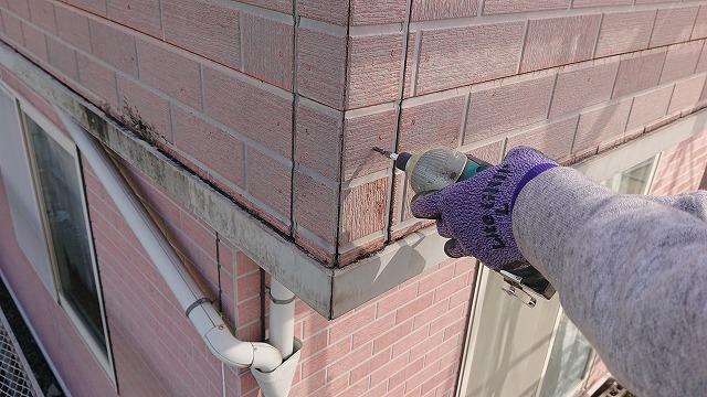 飯田市北方外壁塗装補修作業4