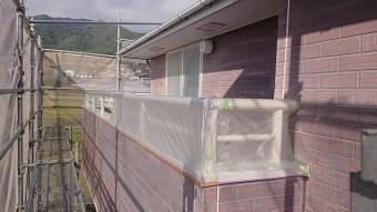 飯田市北方外壁塗養生3