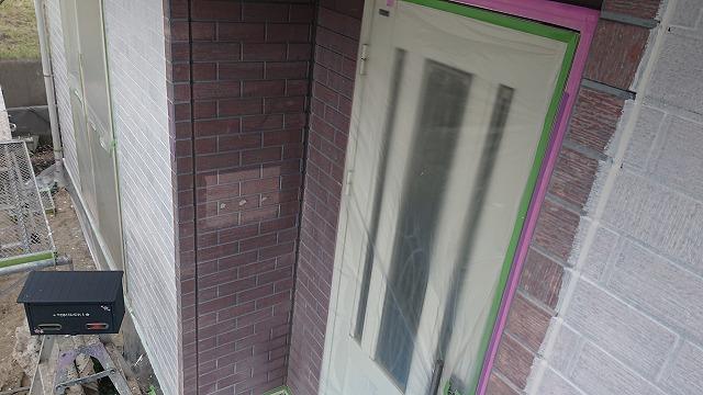 飯田市北方外壁塗下塗り作業2