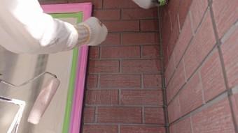 飯田市北方外壁塗下塗り作業7