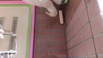 飯田市北方外壁塗下塗り作業8