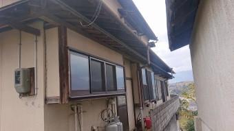 飯田市下久堅外壁塗装現調2