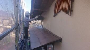 飯田市下久堅外壁塗装洗浄4
