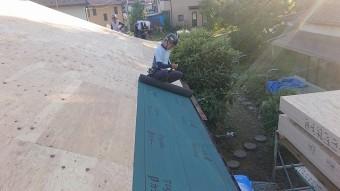飯田市北方屋根葺き替えコンパネ貼り4