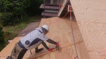飯田市北方屋根葺き替えコンパネ貼り8