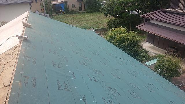 飯田市北方 屋根葺き替え工事の様子
