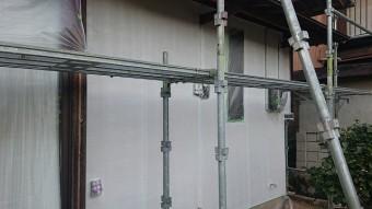 飯田市下久堅外壁塗装下塗り3
