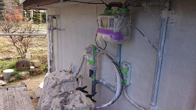 飯田市下久堅外壁塗装下塗り5