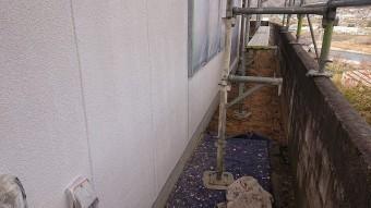 飯田市下久堅外壁塗装下塗り4