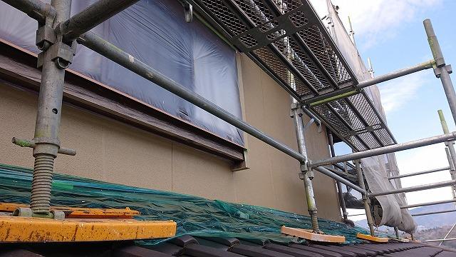 飯田市下久堅外壁塗装上塗り1