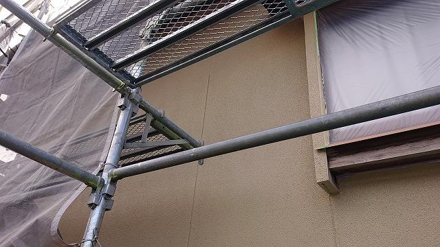 飯田市下久堅外壁塗装上塗り2